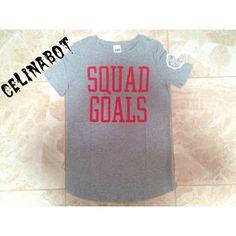 """Vs Pink """"Squad Goals"""" Tee Brand new with tags. Size Medium. ✨Price firm✨ ❗️Please respect my prices as I don't go off leaving negative comments on other peoples listings regarding their prices❗️ ⚠️Also I do not trade, at all⚠️ People who judge my prices or leave negative comments will be blocked, no exceptions PINK Victoria's Secret Tops Tees - Short Sleeve"""