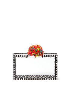 Pandora Clear Pompom Clutch Bag by Charlotte Olympia at Bergdorf Goodman.