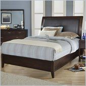 Modus Urban Loft Leatherette Upholstered Low Profile Sleigh Bed in Chocolate Brown Finish - 2O26LX