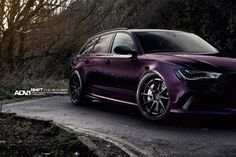 purple Audi RS6 Avant