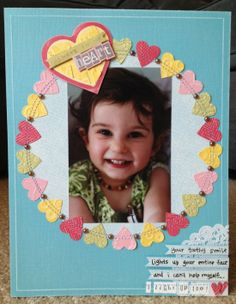 So cute! You can never have too many hearts. Lovely layout from Melissa Oliveira using Core'dinations Cardstock and some @Queen & Co. bling.