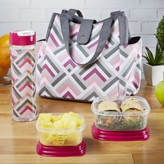 Westport Insulated Lunch Bag Set with Reusable Containers & Alpine Water Bottle - Ladies' Bag - Fit & Fresh Healthy Sweet Snacks, Healthy Eating Recipes, Lunch Recipes, Water Recipes, Eating Fast, Clean Eating Snacks, Tupperware, Lunch Box Containers, Lunch Boxes