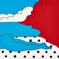 The Fall, 2014 – Painting by Dutch artist Piet Parra created with acrylic on canvas, 100 x 100 cm (39.37 x 39.37 in).