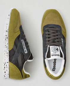AEO Reebok Classic Leather Sneakers, Men's, Olive Green