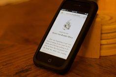 E-book on iPhone