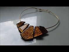 POLYMER CLAY TUTORIAL plastron oriental reine d'Egypte Graine Créative et resine glass 100 Cléopatre - YouTube