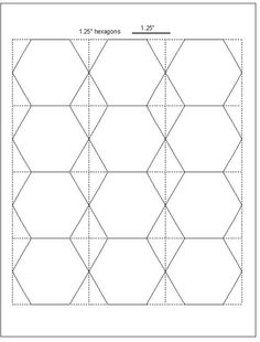 This LetterSized Hexagon Graph Paper Is Spaced With Hexagons Half