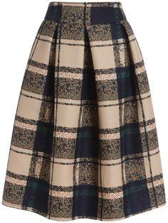 Shop Khaki Vintage Plaid Midi Skirt online. SheIn offers Khaki Vintage Plaid Midi Skirt & more to fit your fashionable needs.