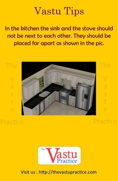 Vastu For Kitchen - The kitchen is best located in the South-East corner of the house called Aagneya. Vastu Guide for Kitchen, Vastu Importance in Kitchen. Kitchen Vastu, Kitchen Sink Diy, Kitchen Sink Window, Kitchen Stove, Diy Kitchen Cabinets, Kitchen Flooring, Kitchen Decor, Kitchen Design, Kitchen Layout