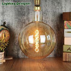G200 giant LED bulb retro Edison bulb vintage type amber color lamp bulb 220V/240V 6W soft led filament dimmable decor bulb