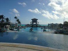 Main Pool & the Caribbean Sea