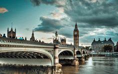 No coração de Londres.