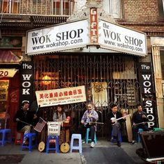 The Wok Shop and neighborhood music in Chinatown