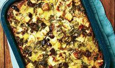 Yotam Ottolenghi's polenta, chard and sorrel bake