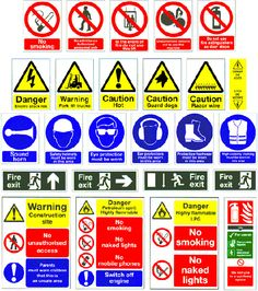 We have an assortment of custom made temporary and permanent signs designed to communicate safety and hazard information to your visitors. Safety Signs And Symbols, Safety Rules, Safety Pictures, Workplace Safety Tips, Construction Safety, Safety Awareness, Safety Posters, Safety Helmet, Sign Company
