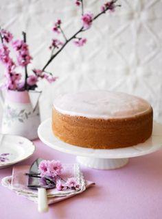 Peach blossom cake.
