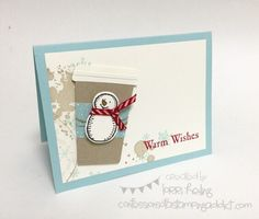 Holiday Extravaganza Project #5 :: Confessions of a Stamping Addict Lorri Heiling Snow Place Christmas Coffee Cup Card