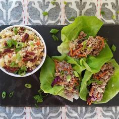 Beef jerky fried caulirice and asian tacos For my piehellip Asian Tacos, Cauli Rice, Beef Jerky, Donuts, Keto Recipes, Fries, Pork, Snacks, Dishes