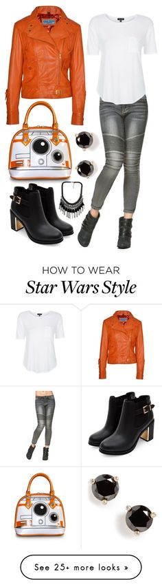 """BB-8 - Star Wars The Force Awakens"" by laughsalotisabelle on Polyvore featuring Topshop and Kate Spade"