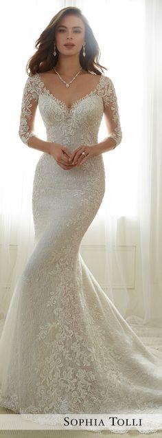 Lace Sleeves Wedding Dress - Sophia Tolli 2017
