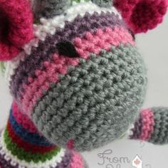 Colourful Giraffe Amigurumi (Ready to Ship) by FromHomeCrochet | Mad Mad Makers | https://www.etsy.com/ca/listing/174271322/colourful-giraffe-amigurumi-ready-to?