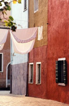 Walls of Burano, Italy