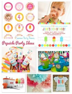 Summer Fun Ideas-- A Popsicle Party!  via Frosted Events www.frostedevents.com  Popsicle birthday party ideas #kidspartyideas