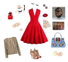 """""""Sophisticated sparkle"""" by vintagegabbi on Polyvore featuring Gucci, Michele, Effy Jewelry, Kate Spade, Avon, Lime Crime, Tart, Morphe and Marc Jacobs"""