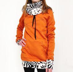 Nevšední dáská mikina, pouze v jednom provedení Hooded Jacket, Athletic, Hoodies, Sewing, Knitting, Sweaters, Jackets, Products, Fashion