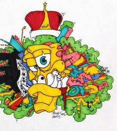 illustration, graffiti, street art