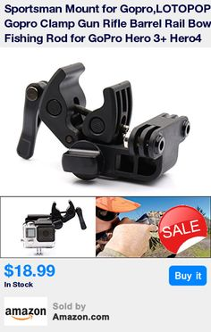 FISHING ROD MOUNT --- This acts as a Fishing Rod Mount GoPro and GoPro cameras can be mount firmly onto the fish rod. Use the center bracket of the clamp to capture a down-the-rod POV. Use the extension arm to get a self footage of your reaction for your