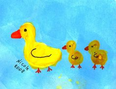 cute ducks Spring Art, Ducks, Tweety, Art For Kids, Birds, Paintings, Artwork, Cute, Crafts