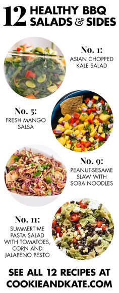 12 healthy barbecue salads and sides recipes! See them all at cookieandkate.com