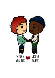Wylan x Jesper (#Wesper) from Six of Crows Duology by Leigh Bardugo! You can buy decor & items such as mugs, pillow cases, & more at my Redbubble shop https://www.redbubble.com/people/yalitreads or Society6 shop https://society6.com/yalitreads