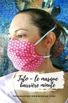 Le masque barrière minute {TUTO} - The Amazing Iron Woman
