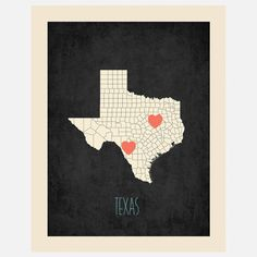 Rebecca Peragine: Texas Customizable Map, at 17% off!