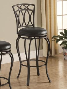 Item #: 122060 FREE SHIPPING! | Usually ships in 2-3 business days List Price: $185.00 | Sale Price: $69.98 (You Save 62%) www.ashleydeals.com/black-bar-stool-coaster-122060.html #Twentynine #Black #Metal #Swivel #Barstool #Chair #Furniture #Company #Online #Ashley #Deals #Ashleydeals