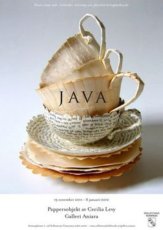 The works of Cecilia Levy are so darn cool!! These cups are made from repurposed paper!