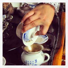 drink Chinese tea in China