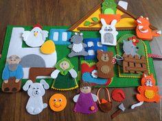 Кукольный театр ручной работы. Ярмарка Мастеров - ручная работа. Купить Пальчиковый театр 4 в 1. Handmade. Кукольный дом