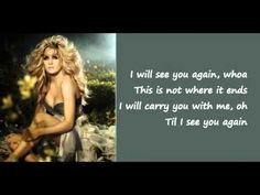 See You Again - Carrie Underwood (Lyrics on Screen)