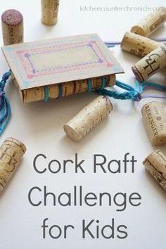 cork raft challenge for kids