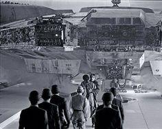 The Cloud City landing platform set on Empire Strikes Back