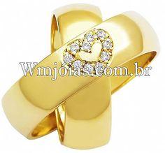 Aliancas de casamento WM2488. Fabricação própria, Sedex GRÁTIS com seguro, garantia eterna e atendimento especializado.