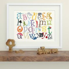 Alphabet Print with Decorative Characters  by MacieDotDoodles