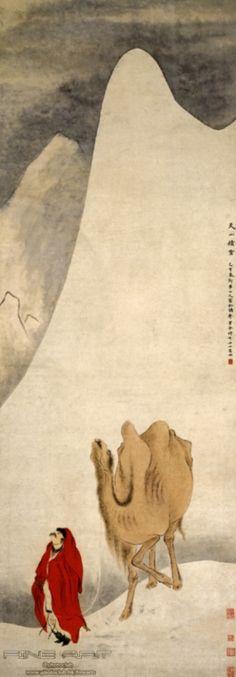 "Hua Yan, ""Snow in Tianshan Mountain"", 1756, Ink and color on paper  (華喦,《天山積雪圖》, 1756,設色水墨紙本)  https://www.google.com/culturalinstitute/beta/asset/snow-in-tianshan-mountain-%E5%A4%A9%E5%B1%B1%E7%A9%8D%E9%9B%AA%E5%9C%96/FQFMXuPl5MNEZQ?hl=en&avm=4"
