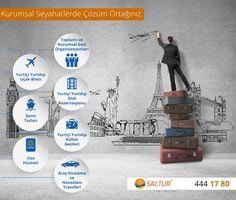 Kurumsal seyahatlerinize kurumsal çözüm ayrıcalıkları sizleri bekliyor. Ayrıntılar www.saltur.com.tr veya 444 1780