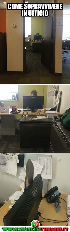 Come sopravvivere in ufficio :D (www.VignetteItaliane.it)