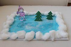 Fun ice skating winter craft.  #winter crafts for kids