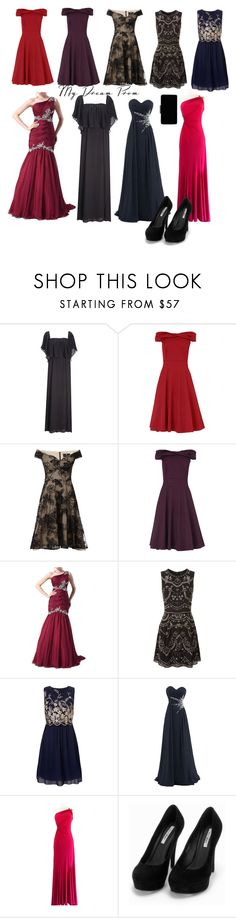 """My friend's dream prom"" by melliflusous ❤ liked on Polyvore featuring Fame & Partners, Phase Eight, Ariella, Needle & Thread, Lipsy, Cinderella Divine, Nly Shoes and John Lewis"